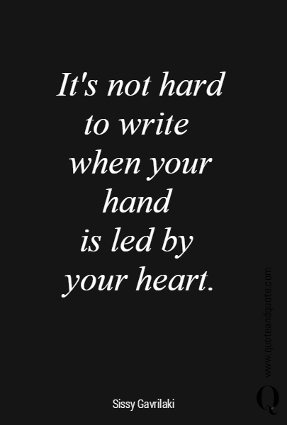 It's not hard to write 