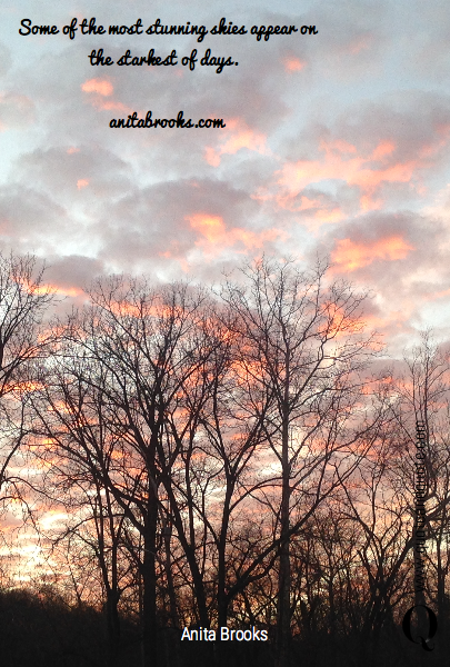 Some of the most stunning skies appear on the starkest of days. 