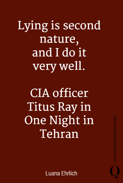 Lying is second nature,