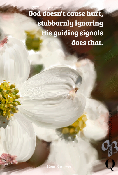 God doesn't cause hurt, 