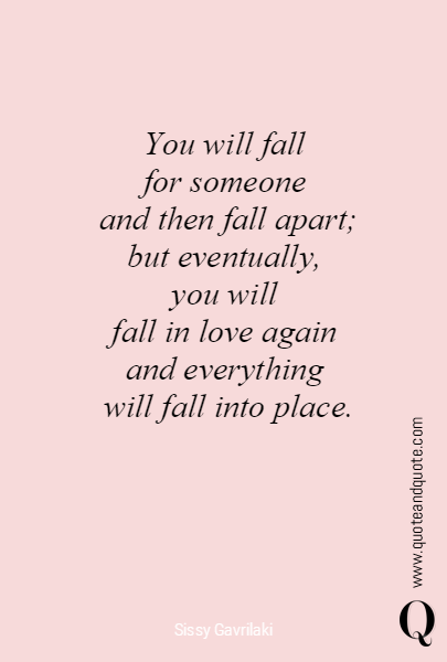 You will fall 