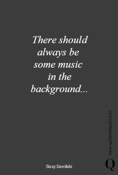 There should always be 