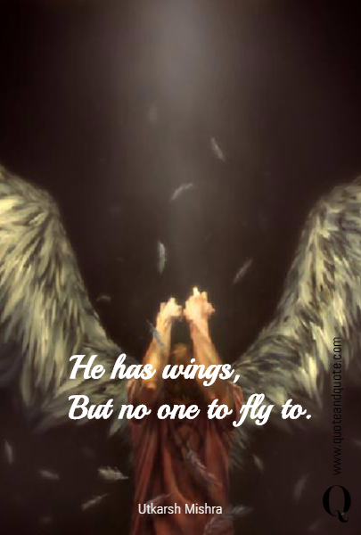 He has wings,