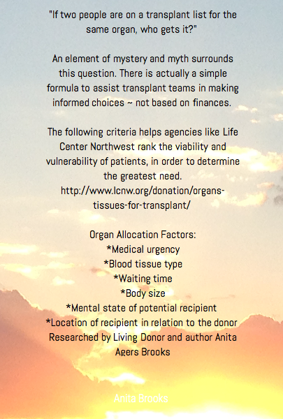 """If two people are on a transplant list for the same organ, who gets it?""  