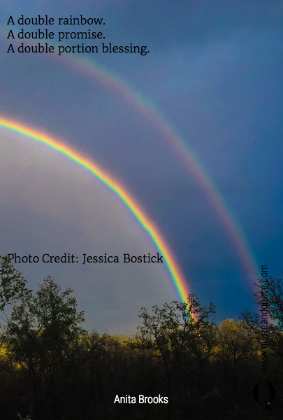 A double rainbow. 