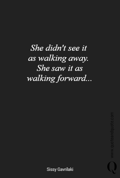 She didn't see it 