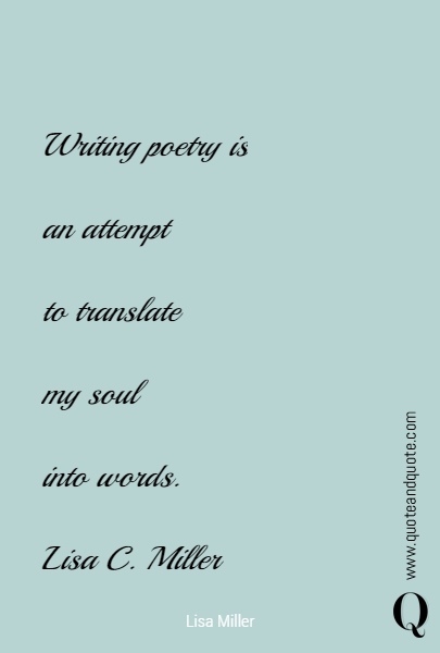 Writing poetry is