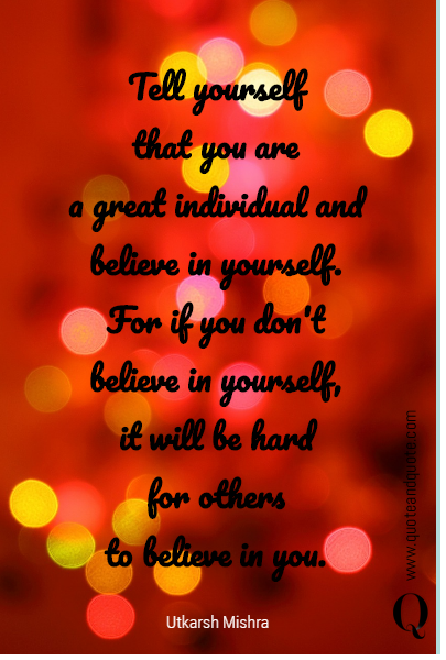 Tell yourself