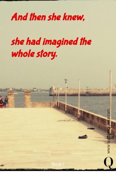And then she knew, 