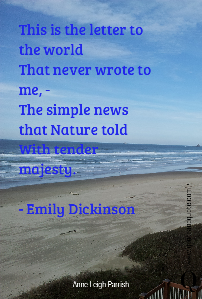 This is the letter to the world