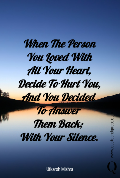 When The Person