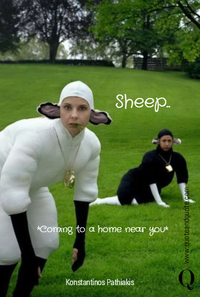 Sheep.. *Coming to a home near you*