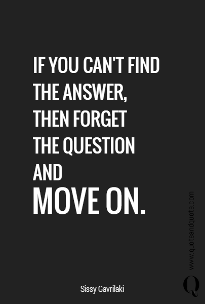 IF YOU CAN'T FIND THE ANSWER, 