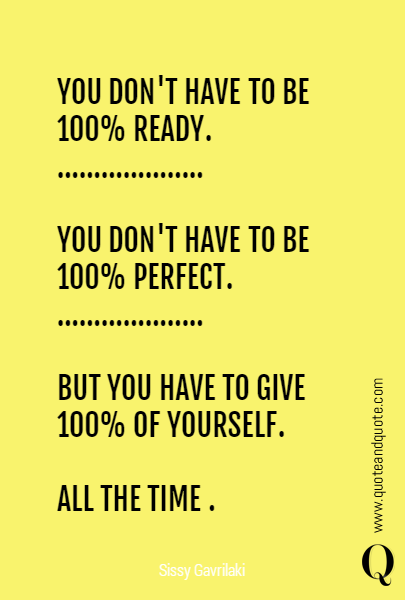 YOU DON'T HAVE TO BE 