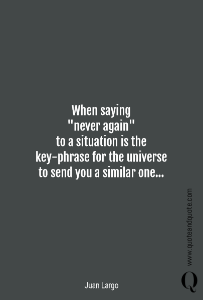 When saying 