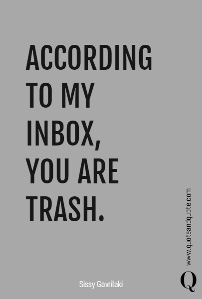ACCORDING TO MY INBOX, 
